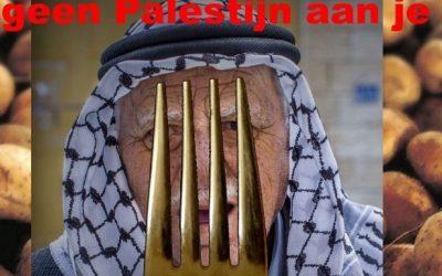boycot actie: prik geen Palestijn aan je vork