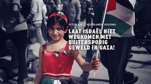 Teken petitie aan nederlandse regering tegen het Israelische geweld in Gaza
