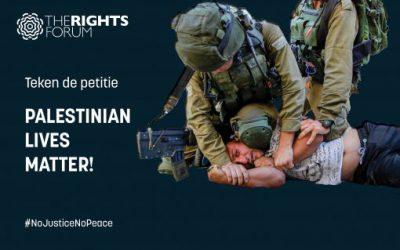 Petitie: Palestinian lives matter!