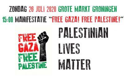 Zondag 26 juli manifestatie Free Gaza Free Palestine
