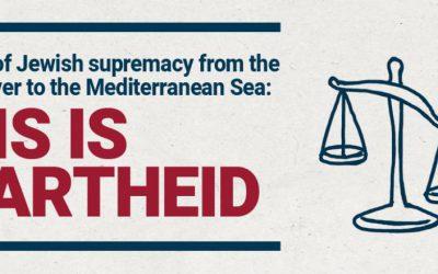 Israëlische mensenrechtenorganisatie: Israël is apartheidsstaat van de Jordaan tot de Middellandse zee