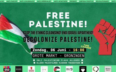 Palestina demonstratie op zondag 6 juni op de Grote markt