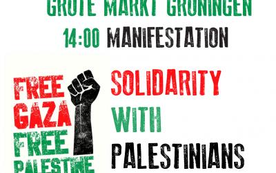 zondag 16 mei demonstratie uit solidariteit met Palestijnen op grote markt