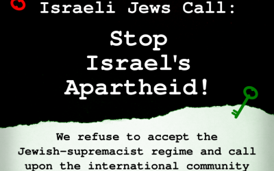 "Oproep van joodse Israëli's:  ""Stop de apartheid van Israël!"""
